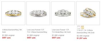 jcpenney wedding rings 2013 after sales