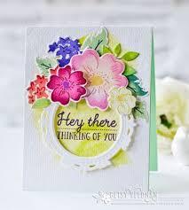 papertrey ink floral sketches die papertrey ink clear stamps