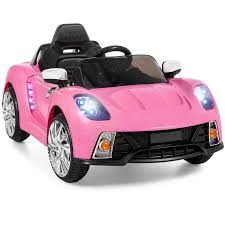 pink power wheels mustang 12v ride on car w mp3 electric battery power remote