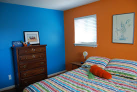 blue and orange room blue and orange wall color for impressive bedroom ideas using two