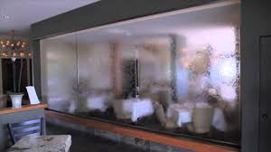 glass room dividers glass panel waterfall vigilucci u0027s youtube