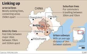 World Map Beijing China by Beijing Announces Plans For 1 000km Rail Network Linking Capital