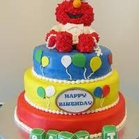 elmo baptism 1st birthday cake gallery on cake central