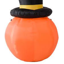 aosom homcom 69 u201d tall halloween led lighted pumpkin with hat
