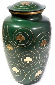 burial urns for human ashes shamrock cremation urn clover funeral urn in green