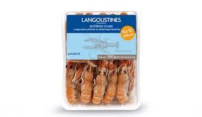 cuisiner les langoustines langoustines entières crues 8 à 10 pièces surgelés les