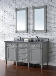 Bathroom Vanities 60 by 60 Inch Double Sink Bathroom Vanity Gray Finish No Top
