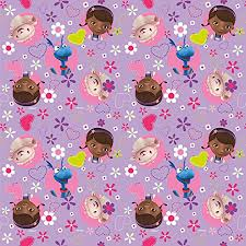 doc mcstuffins purple floral gift wrap roll 5ft