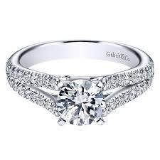 gabriel and co engagement rings gabriel co engagement rings split shank 40ctw diamonds