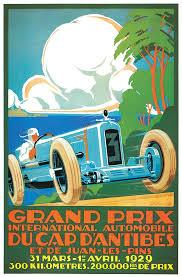 grand prix automobile poster vintage 1929 race car advertisement