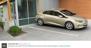 2017 chevrolet volt adds citron green metallic exterior paint color