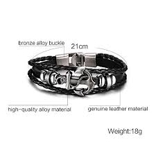 anchor wrap bracelet images Hot and bold authentic stylish anchor charm genuine leather wrap jpg