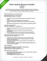 sample resume of data analyst data analyst resume example business
