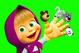 masha bear finger family nursery rhyme song