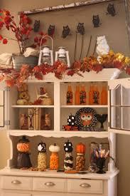 my halloween hutch goodwill fall autumn owl pumpkins