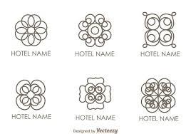 floral ornament hotel logo vectors free vector