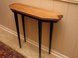 top half table for hallway with narrow half moon table fascinating