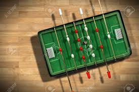 electronic table football game top view of mini table football game with an old black and white