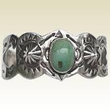 vintage turquoise bracelet images Rare vintage 1920 39 s native american green turquoise bracelet jpg