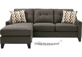 Sleeper Sofas With Chaise Home Place Slate 2 Pc Sleeper Sectional