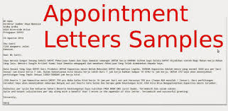 Appointment Letter Template Free Appointment Letters Samples Samples Business Letters