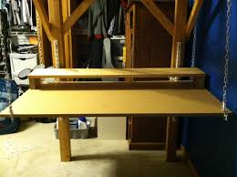 how to build a hanging desk in 15 minutes