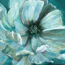 teal flowers 193 best wall flowers images on flowers