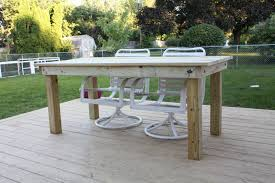 Garden Patio Table And Chairs Furniture Diy Outdoor Dining Table Cedar Patio Table Plans