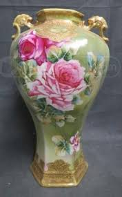 Nippon Hand Painted Vase 211 Best Nippon Vases So Beautiful Images On Pinterest Porcelain