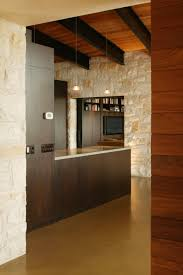 Colorado Kitchen Design by Like The Steel Beams With Wood Ceiling Stone Wall Wood Walls