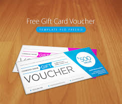 awesome free gift card voucher template psd freebie download free
