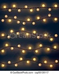 christmas lights net style set of yellow garland style christmas lights on the dark vector