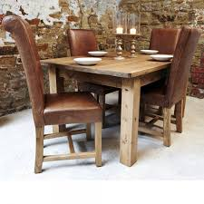 Leather Dining Room Furniture Awesome Rustic Leather Dining Chairs Photos Liltigertoo