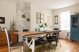 how to make a dining table from an old door unassumingly chic farmhouse style dining room ideas