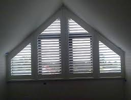 Timber Blinds And Shutters Specialty Shaped Blinds For Arch And Angled Windows Triangular