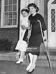jaqueline kennedy jacqueline kennedy on crutches pictures getty images