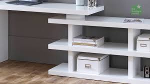 white high gloss desk with swivel bookcase youtube