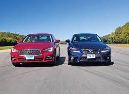 lexus vs infiniti q50 vs lexus is 250 road test consumer reports