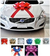 new car gift bow car bows golden openings