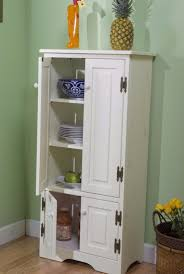 homcom tall colonial storage cabinet kitchen pantry cupboard home