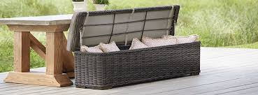 Ottoman Storage Bench Outdoor Storage Benches And Ottomans Arhaus