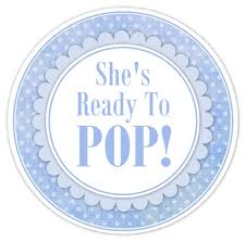 popular baby shower edible images photo cakes cake stickers about to pop baby shower