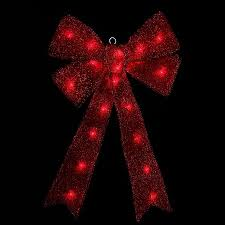 battery operated lighted christmas bows 24 x 16 lighted sparkling red tinsel bow christmas decoration
