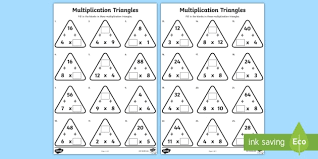8 times table worksheet multiplication triangles 4 and 8 times tables worksheet