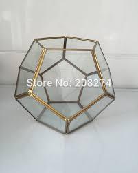 handmade bonsai football metal glass geometric terrarium succulent