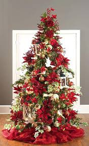 christmas tree with white lights and red bows red christmas tree nourishd co