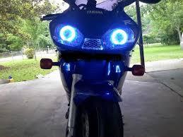 yamaha r6 halo lights 99 02 yamaha r6 projector hid halo eyes combo dual