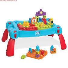 mega bloks first builders table mega bloks first builders build n learn table in blue mega bloks