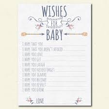 wishes for baby cards tribal wishes for baby shower printable boho girl baby shower