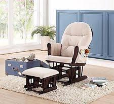 naomi home brisbane glider ottoman set with cushion in cream and